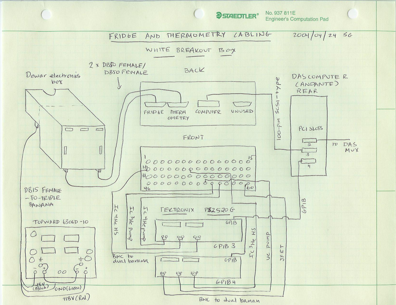 Bolocam Web Page Fridge Manual And Monitoring Refrigerator Cooling Schematic Here Is A Of The Cabling Click On Picture To Get Larger Version
